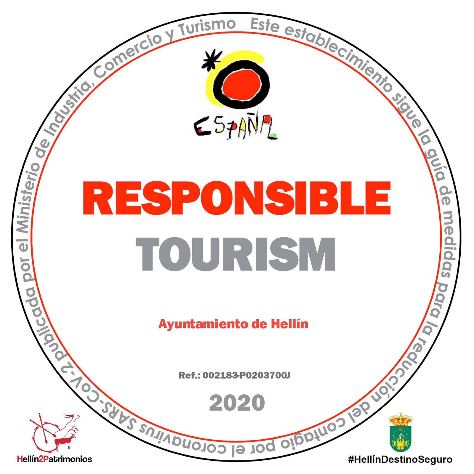 Responsible Tourism Safe Destination Seal