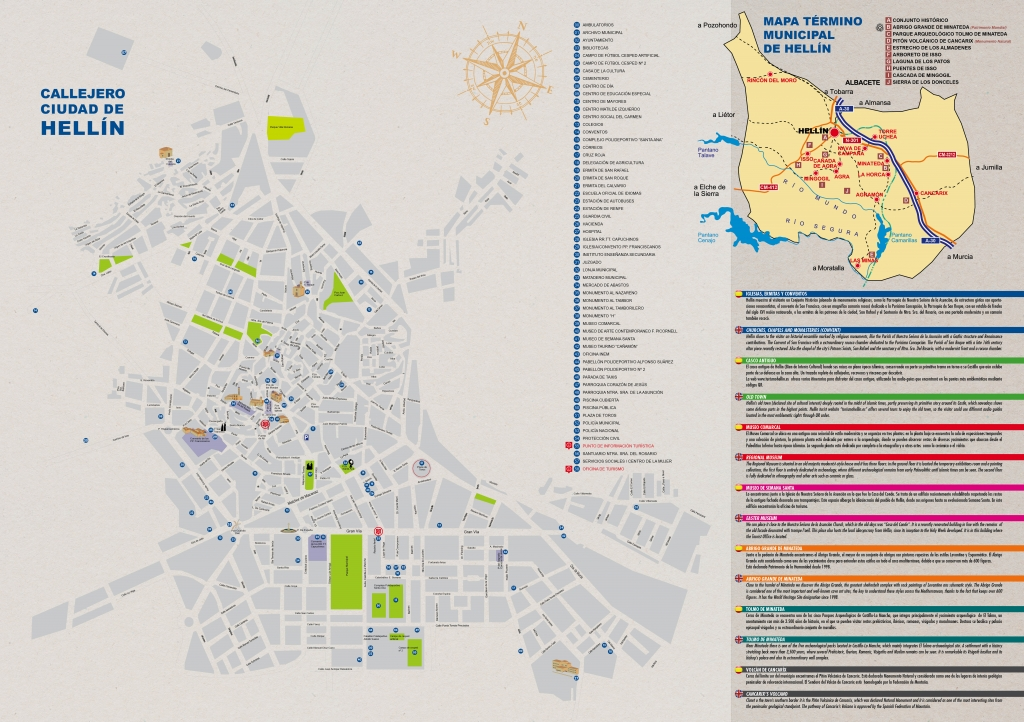 Carte des rues de Hellin City